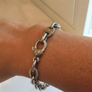 Judith Ripka Two bracelet 18k Sterling silver